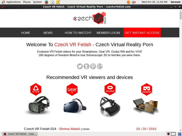 Czechvrfetish Order Page